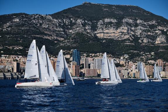 Monaco J/70's sailing off Monte Carlo