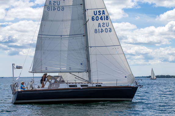 J/34c Astrea sailing in Maine