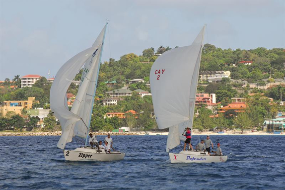 J/22s sailing downwind off Montego Bay, Jamaica