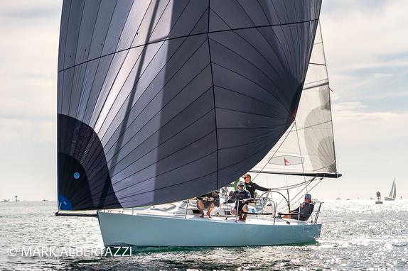 J/105 sailing off San Diego, CA