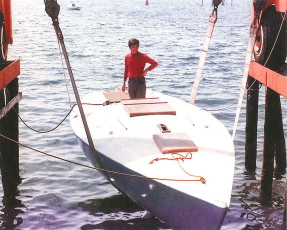 J/24 RAGTIME first launching in Stonington, CT