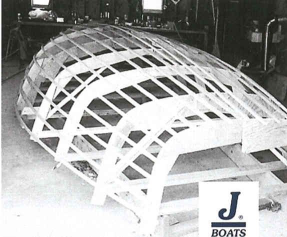 J/24 hull stringers and frames