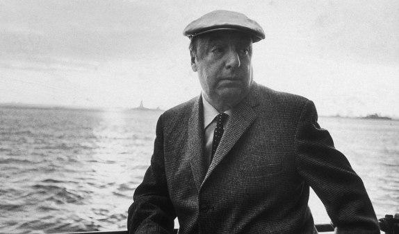 Pablo Neruda sailing in proper gentleman's dresss