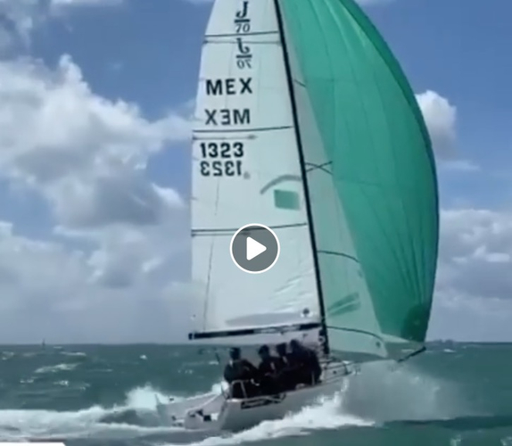 Mexican J/70 sailing Midwinters