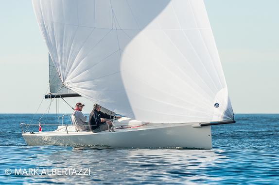J/70 sailing off San Diego, CA