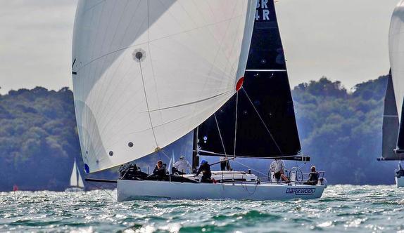 J/121 sailing Solent, England
