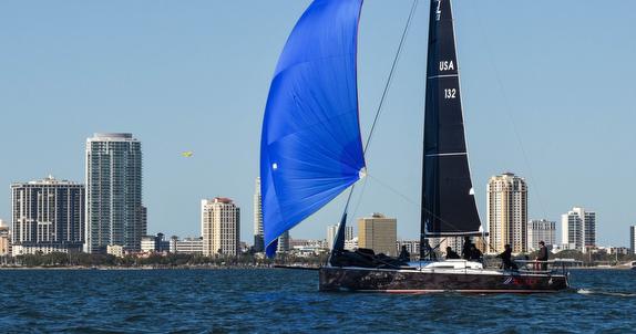 J/111 sailing off St Petersburg, FL