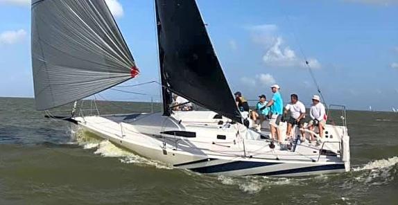 J/99 sailing off Texas