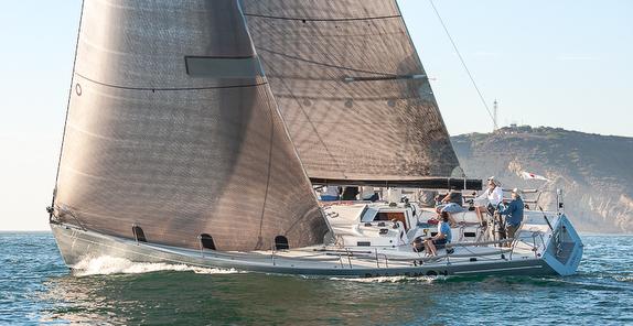 J/145 sailing off San Diego, CA