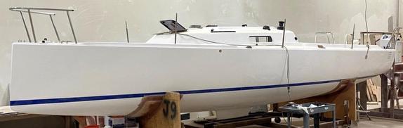 J/9 daysailer hull decked in Bristol, RI