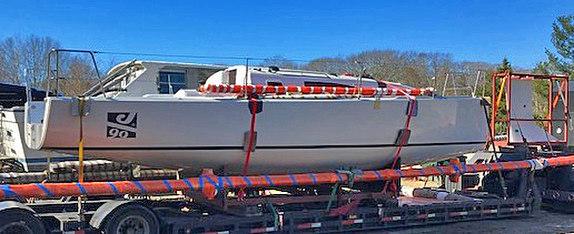 J/99 arriving Bristol, RI