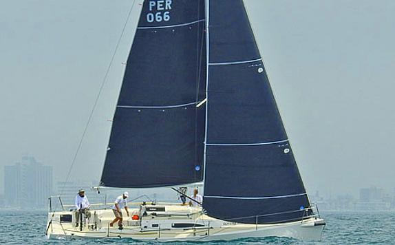 J/111 sailing off Peru