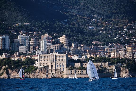 J/70s sailing off Monte Carlo, Monaco