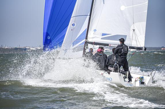 J/70 sailing on Solent, England