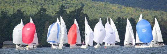 J/22s sailing on Lake George, NY