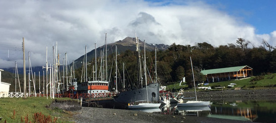 J/24s at Puerto Williams, Chile