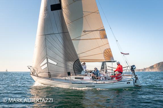 J/29 sailing off San Diego, CA