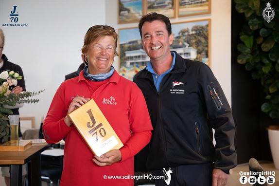 Ladies winner J/70 Australia