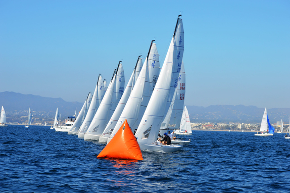 J/70s sailing SCYA Midwinters off Los Angeles, CA