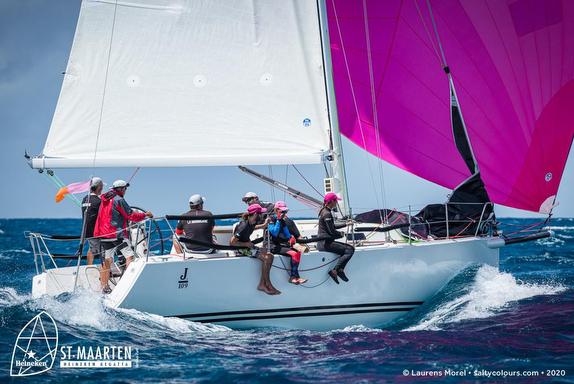 J/109 sailing St. Maarten Heineken Regatta