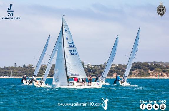 J/70s sailing Australia