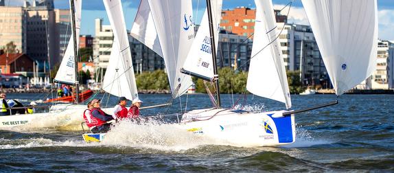 J/70 sailing off Stockholm, Sweden