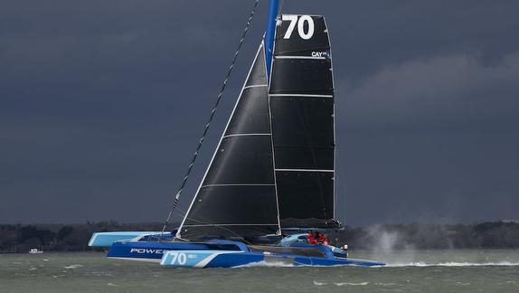 MOD 70 Powerplay sailing on Solent, UK