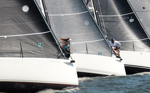 J/88 sailing at Charleston, SC