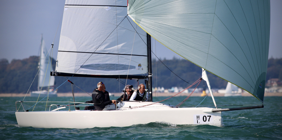 J/70 sailing downwind