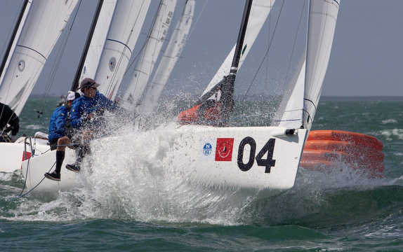 J/70s sailing Bacardi Cup regatta