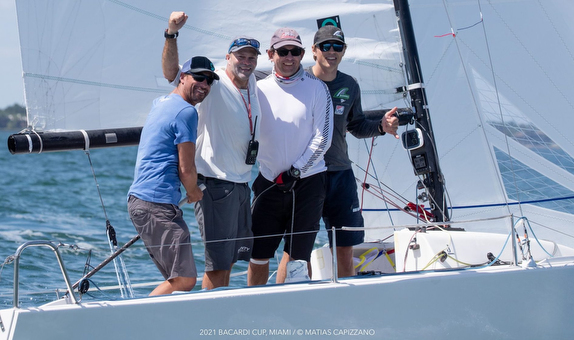 J/70 Honeybadger winning crew