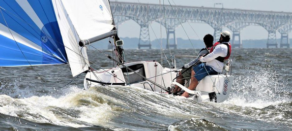 J/70 sailing doublehanded off Annapolis