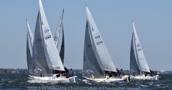J/24s sailing Midwinters off Melbourne, FL