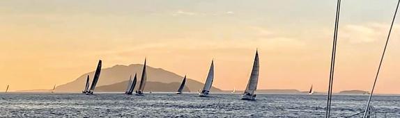 sunset going offshore in Midsummer Solo Challenge, Marstrand, Sweden