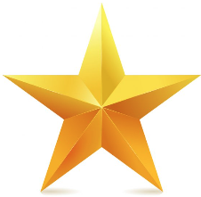 A yellow star