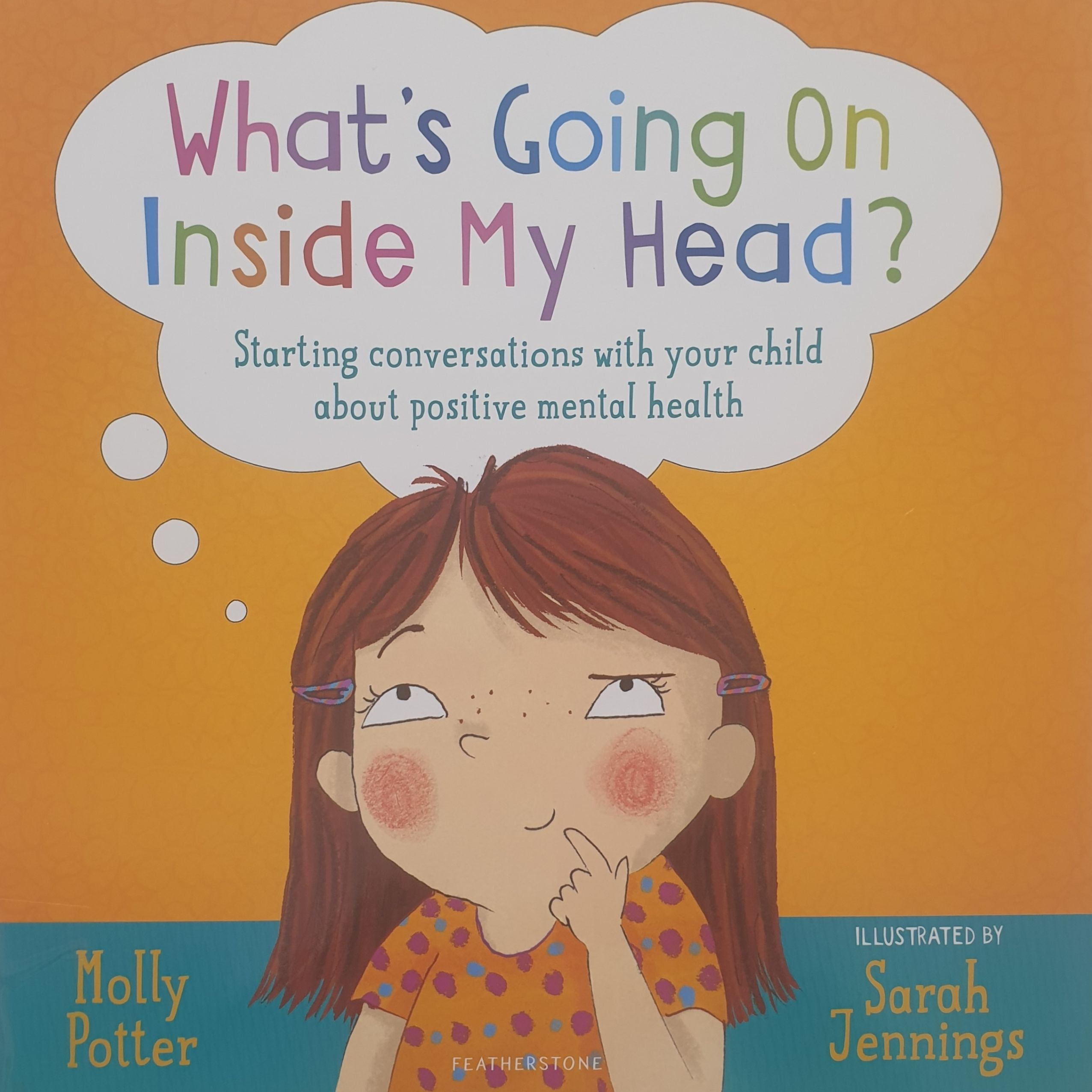 Book cover with an image of a illustrated young girl with red hair and freckles