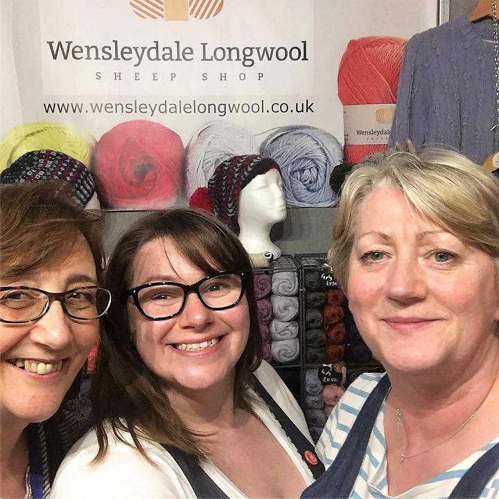 Wensleydale Longwool Sheep Shop team at a Wool Show