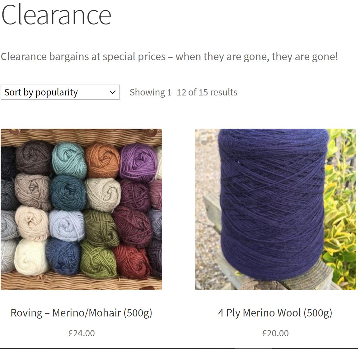 Wensleydale Longwool Sheep Shop Clearance bargains