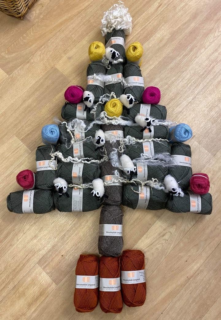Christmas Tree in Wensleydale wool and fleece