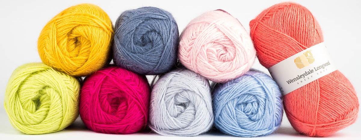 Pure Wensleydale Wool in balls