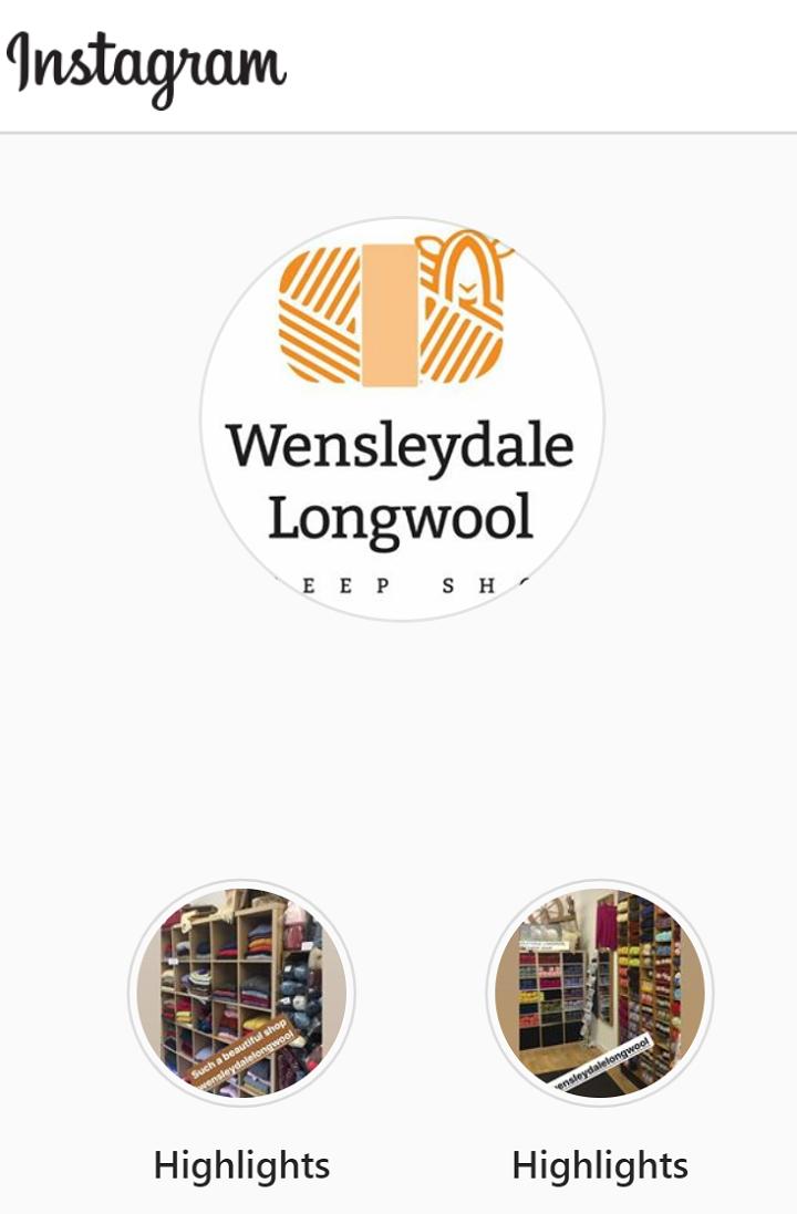 Wensleydale Longwool Instagram image