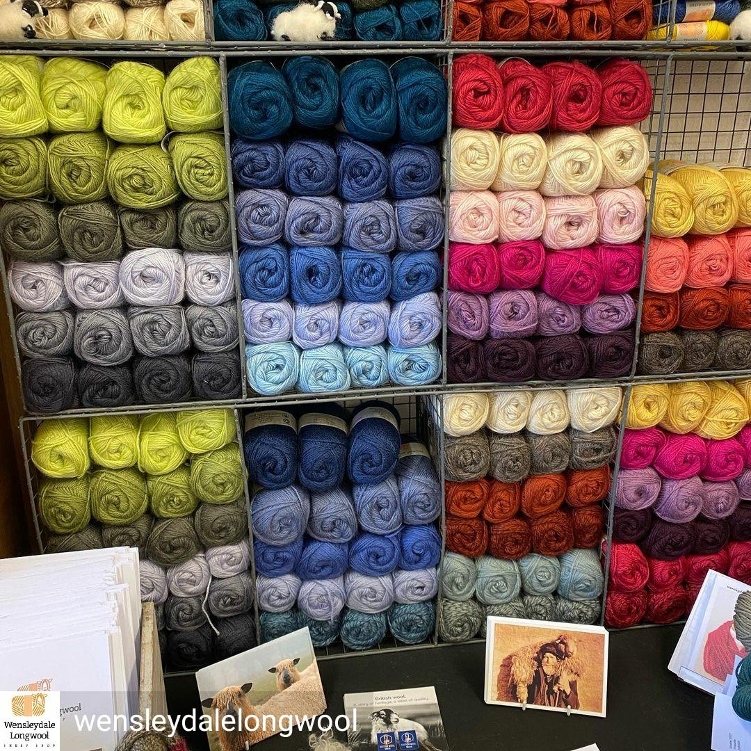 Wensleydale Wool in cubes