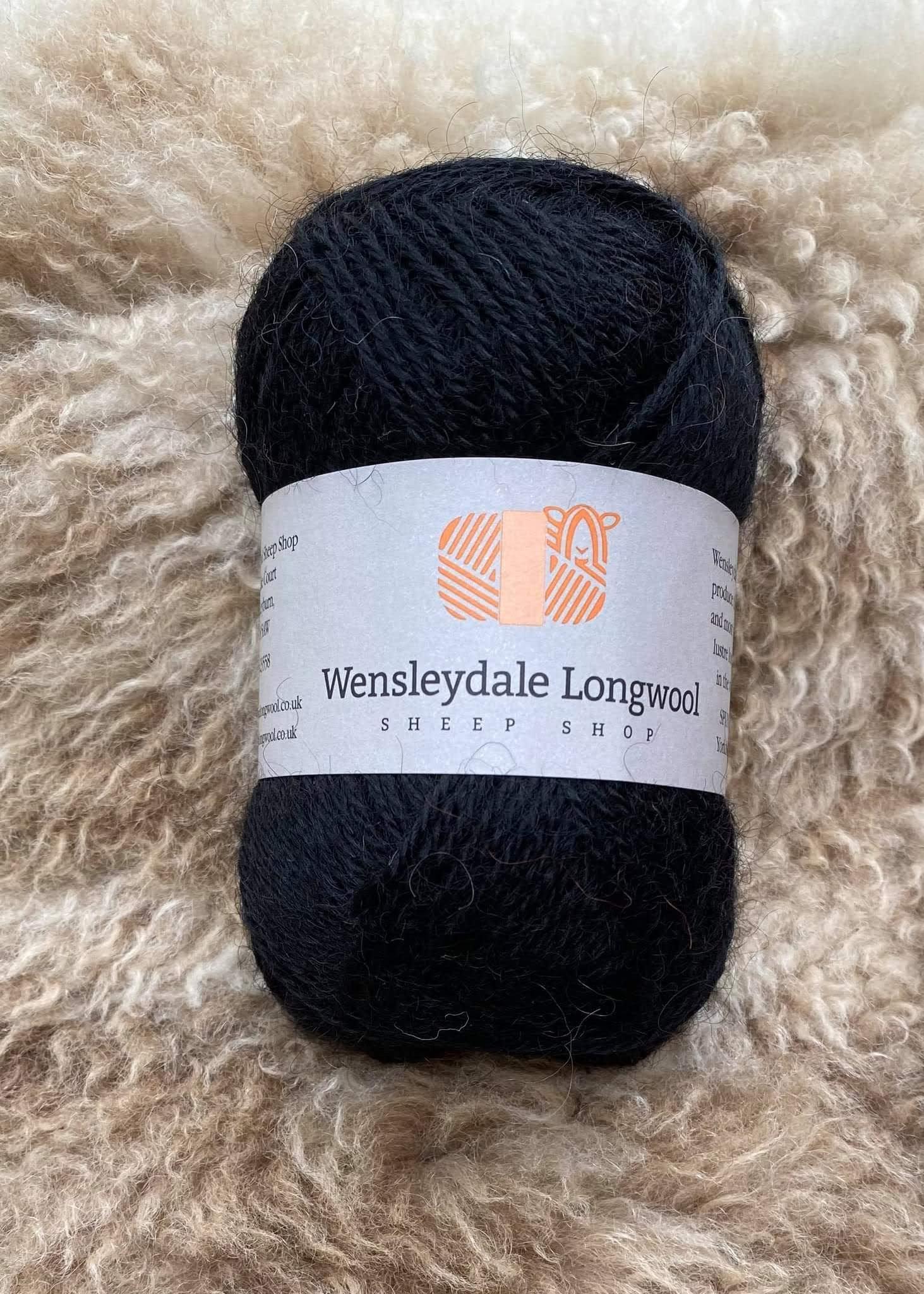 New Wensleydale limited edition Black 4ply yarn