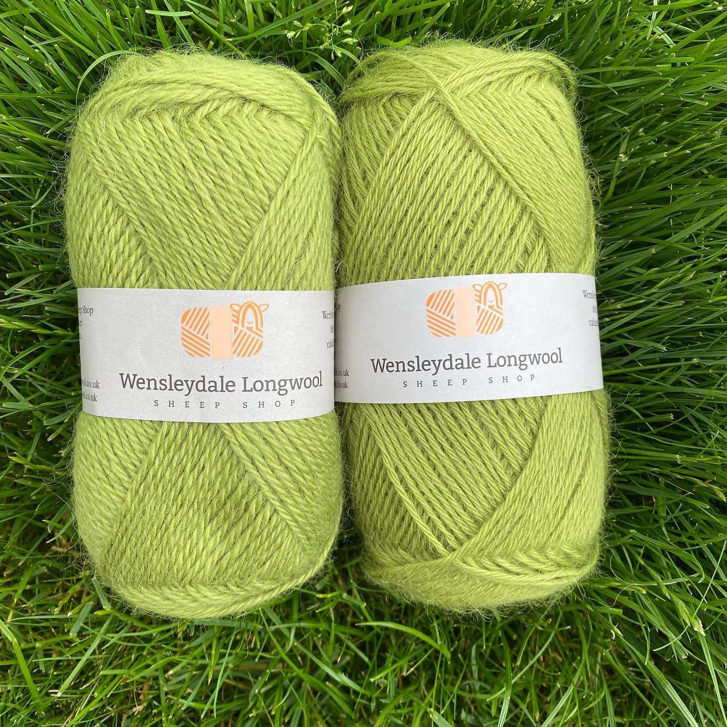 New Wensleydale yarn in Grassington colour both Aran and DK weights