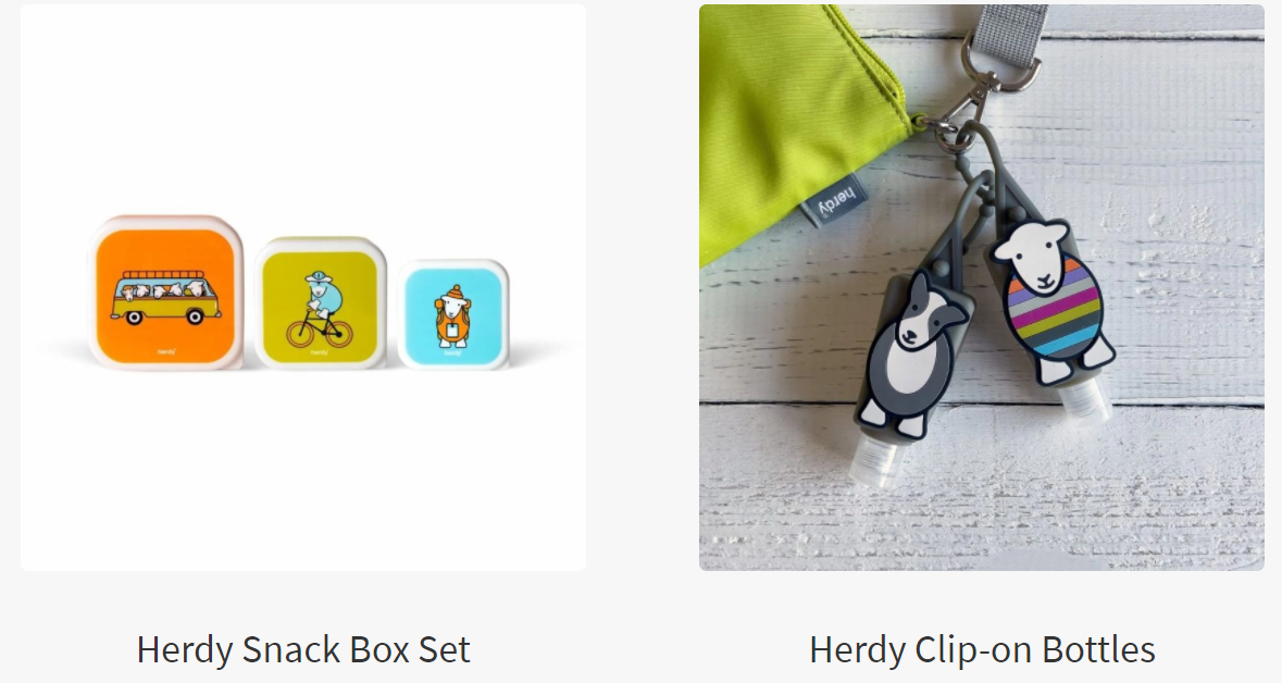 Herdy Snack Box set and Clip-on Bottles