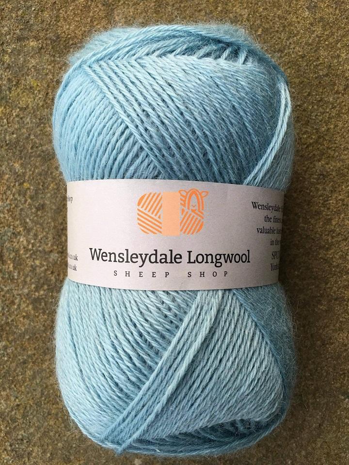 Wensleydale Longwool DK yarn - Alice Blue