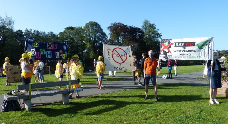 West Cumbria coal mine protest