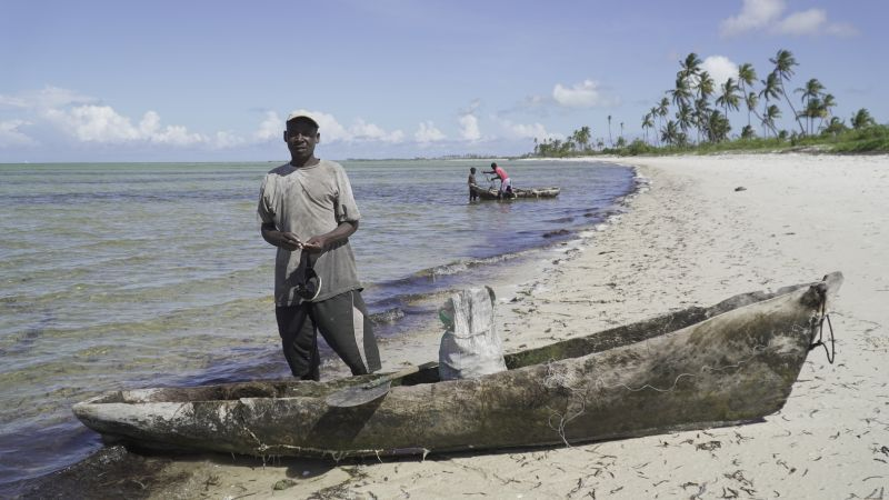 Fisherman in Mozambique