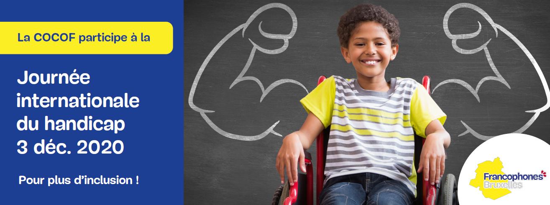 Photo de l'affiche de la COCOF sur la Journée internationale du handicap du 3 décembre 2020