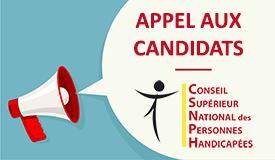 Appel à candidats pour faire partie du CSNPH (Conseil Supérieur National des Personnes Handicapées)